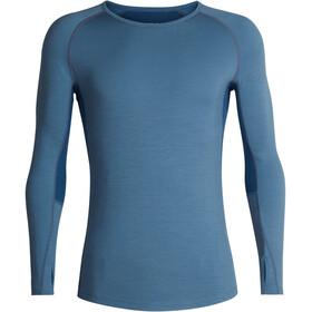 Icebreaker 200 Zone LS Crewe Shirt Men granite blue-prussian blue